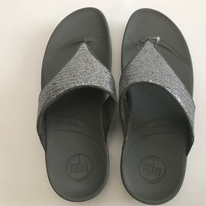 Fitflop Thing Sandals Silver Glitter